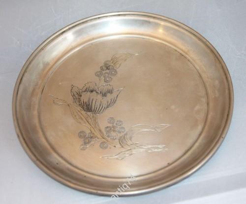 тарелка серебро 875 проба