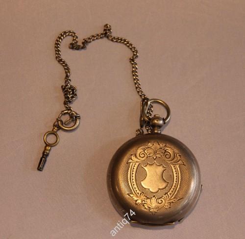 часы карманные Perret and Fils серебро