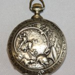 часы карманные DOXA со сценами охоты