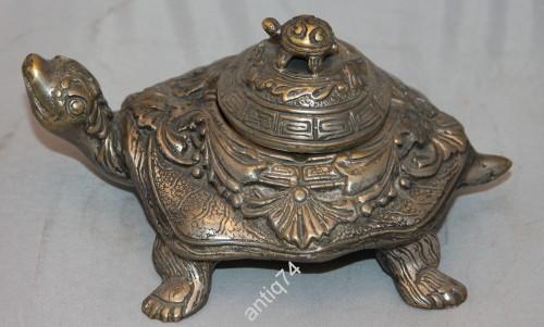 черепахи шкатулка мельхиор