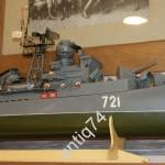 модель эсминца корабля
