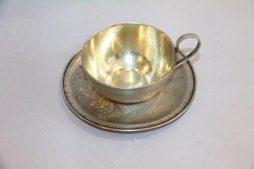 чайная пара серебро