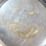 поднос тарелка серебро