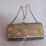 Серебряная сумочка, кошелек. 84 проба