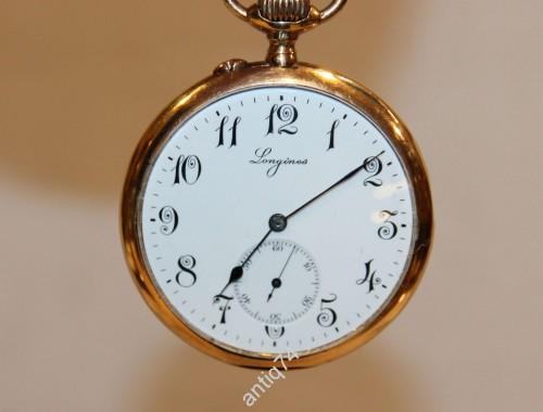 Часы золотые карманные Longines Лонжин. На ходу.
