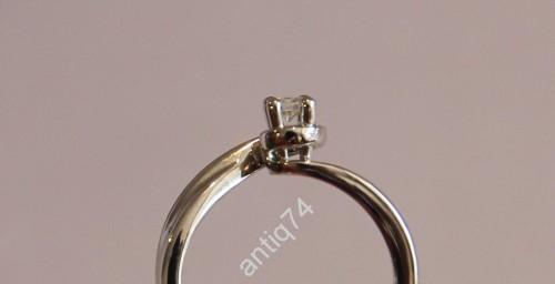 Кольцо Джорджио Висконти белое золото, 750 проба. Бриллиант