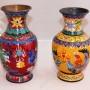 вазы с драконами. Клуазоне. Китай