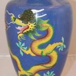 Большая ваза с драконами. Клуазоне. Китай
