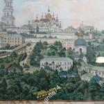 литография Общий вид Киево-Печерской лавры. 1895 год