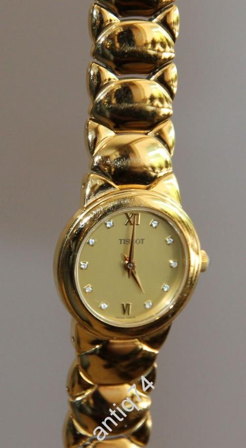 Часы женские Tissot позолоченные