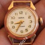Часы женские, золотые Чайка