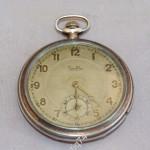 Серебряные, карманные часы, Zentra. На ходу.