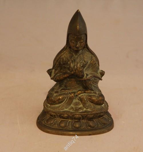 Будда. Монах желтошапочник. 18 век. Бронза, литьё