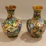 Парные, красивые вазы. Клуазоне. Старый Китай