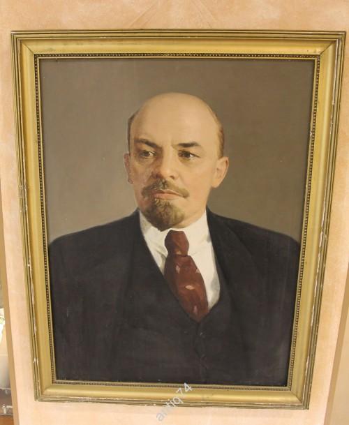 Большая картина Ленин