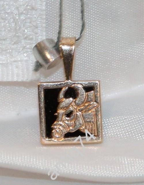 Подвеска, кулон. Знак зодиака Телец. Золото 585