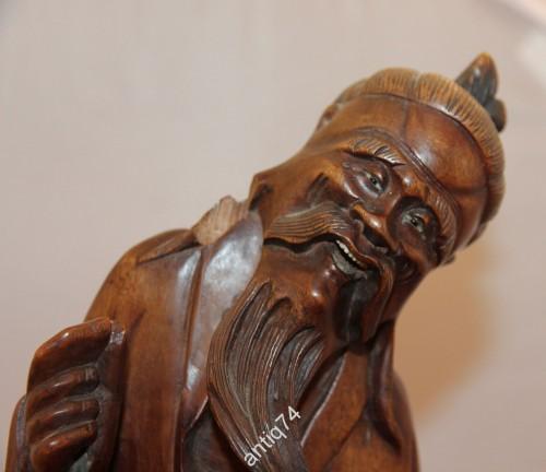 Шоусин - Бог долголетия. Дерево, кость. Старый