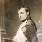 красивая гравюра. Наполеон. Старая, большая