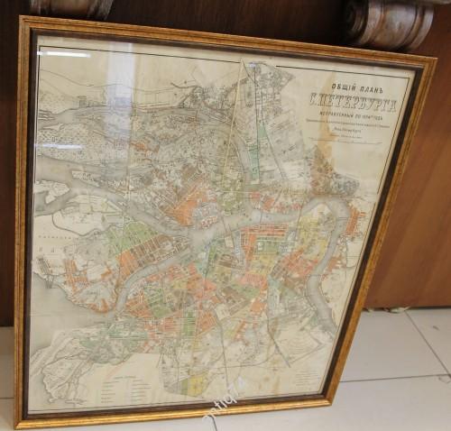 карта Петербурга 1904 год