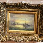Морской пейзаж. Рыбацкие лодки, корабли. Европа