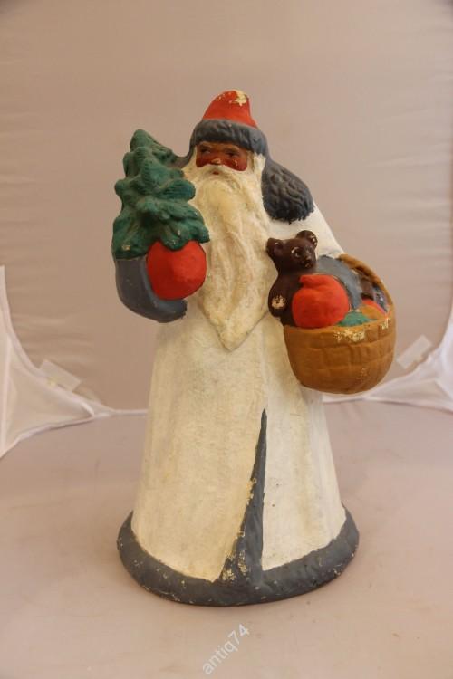 Старый большой Дед Мороз из папье-маше