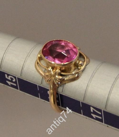 Кольцо с аметистом. Золото, 585 проба. СССР