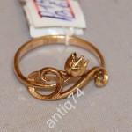 Золотое кольцо с тюльпанами. 583 пр