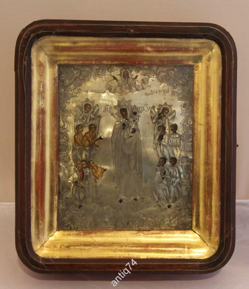 икона Всех скорбящих радость. Серебряный оклад