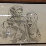 """Сергей Бондар Серия """"Партизаны"""" Девушка и партизан, 1950-е годы"""