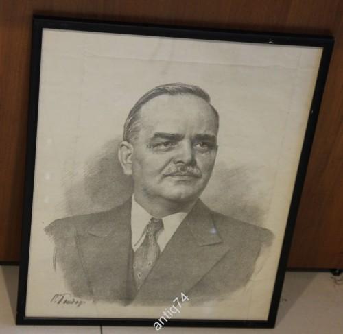 Сергей Бондар. Портрет Н.М.Шверника,1947 год