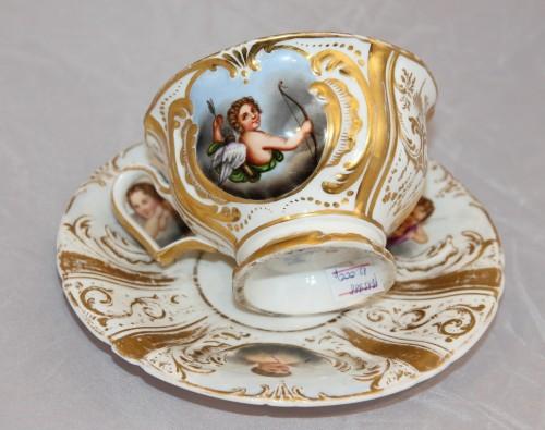 Чайная пара с ангелами и купидонами. Германия. Бавария. SPM