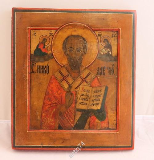 Икона Николай Чудотворец, ковчег, очень толстая доска