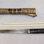 Нож для мяса Китай, северная Маньчжурия. кон 19 века - нач 20го. Бронза, драконы
