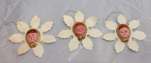 Ёлочные игрушки. Три снежинки. СССР 30-40-е годы