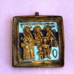 Кирик и Иулита с избранными святыми. Очень красивая эмаль