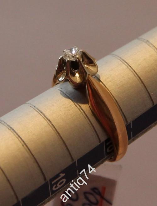 Кольцо с бриллиантом 0,17 карата