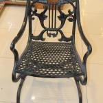 Два больших чугунных стула. Касли 20-30-е годы