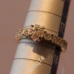 Кольцо с бриллиантом. 0,75 карата