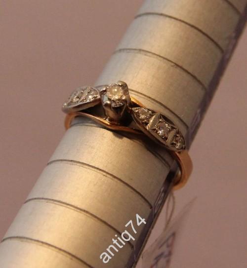 Кольцо с бриллиантами. 0,3 карата