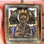 литая, вершковая икона Николай Чудотворец. 4 эмали