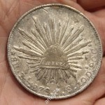 монета Мексика 1878 год. Серебро