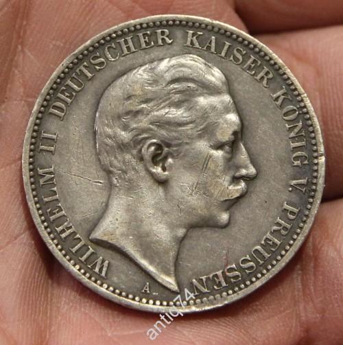 Вильгельм 2-й. 3 марки, 1910г.