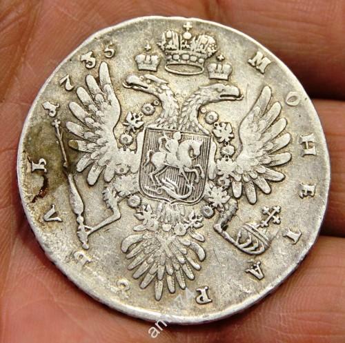Рубль Анна. 1735 г