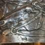 Салфеточное кольцо с лошадьми. 29 артель. 84 проба. Лошади, скачки, кони