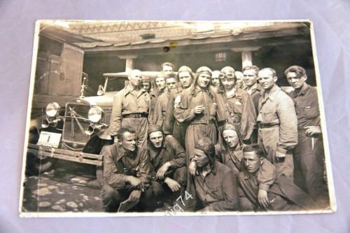 Участники автопробега Челябинск-Москва, 1936 год