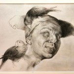 Блохин Николай Дмитриевич. Портрет с попугаями. Копия