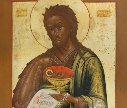 икона Иоанн Предтеча. Золото