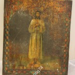 икона Алексей - божий человек. На металле