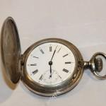 Часы карманные Петровские. Серебро, 84 пр. На ходу