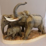 Семейство слонов. Слоны. Германия.